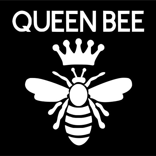 Queen Bee Vinyl Decal Sticker | Cars Trucks Vans SUVs Windows Walls Cups Laptops | White | 5.5 Inch | KCD2406