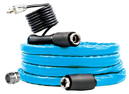 Camco 12ft Cold Weather Heated Drinking Water Hose Can Withstand
