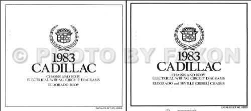 Cadillac Eldorado Diesel - 1983 Cadillac Eldorado Diesel Foldout Wiring Diagrams Original Color Set