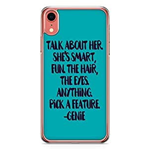 Loud Universe Aladding Quote Genie Quote iPhone XR Case Aladdin Classic Cartoon Network iPhone XR Cover with Transparent Edges