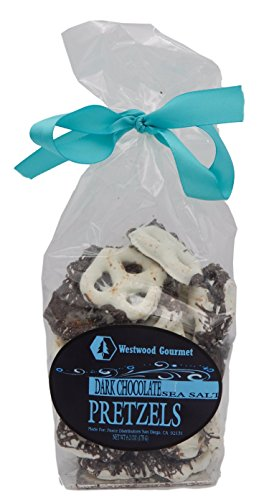 Westwood Gourmet Chocolate Covered Pretzels, 6.2 Ounce Bag (Dark Chocolate & Sea Salt) Chocolate Covered Gourmet Apple