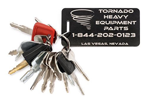16 TORNADO HEAVY EQUIPMENT PARTS CONSTRUCTION IGNITION KEY SETS TORNADO Comes in sets of 7 cat See product description for more info. tools 10 case 12 Key Set 20 for backhoes etc 18 12 14