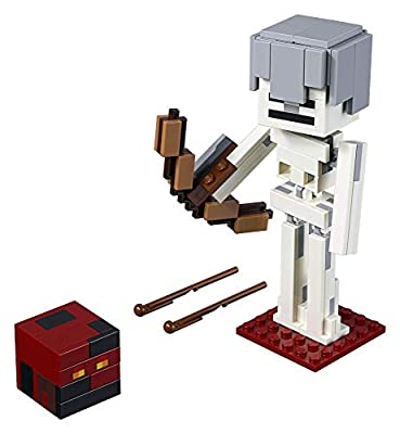 LEGO Minecraft BigFig Skeleton with Magma Cube Building Kit (142 Piece) from LEGO