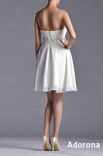 Graduation Silver Sleeveless Natrual Strapless Adorona Sweetheart Chiffon Dress qxzHSc7gw