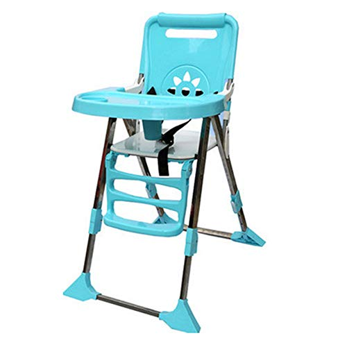 Afdgsjyu-Baby Care Home Restaurants Junior Chair Multifunctional Children's Dining Chair Child Seat Detachable (Color : Blue)