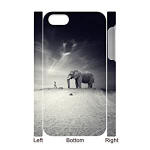 3D Bumper Plastic Case Of Elephant customized case For Iphone 4/4s hjbrhga1544
