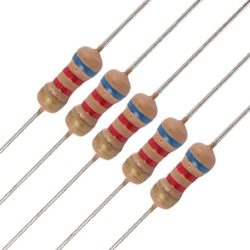 Uxcell a11102000ux0164 50 x 1/4W 250V 6.2K Ohm 6K2 Axial Carbon Film Resistors