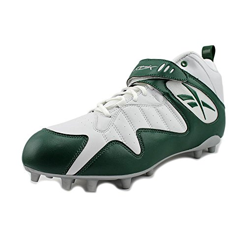 REEBOK PRO ALL OUT ONE MID MP MENS FOOTBALL CLEATS WHITE GREEN OzOBMabd