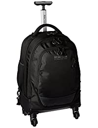 "Kenneth Cole Reaction Double Gusset 4-Wheel 17.0"" Multipurpose Backpack, Black"