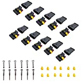 ZoneLi 4 Pin Way Car Auto Waterproof Electrical Connector Quick Locking Wire Harness Sockets 1.5mm Series Terminals Heat Shrink Pack of 10