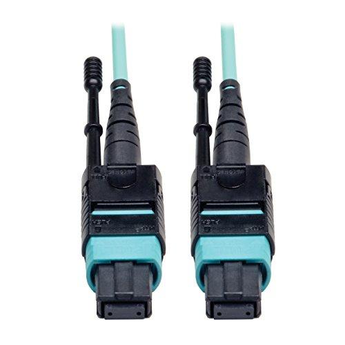Tripp Lite MTP / MPO Patch Cable 12 Fiber,40GbE, 40GBASE-SR4,OM3 Plenum-rated - Aqua, 10M (33-ft.)(N844-10M-12-P) by Tripp Lite