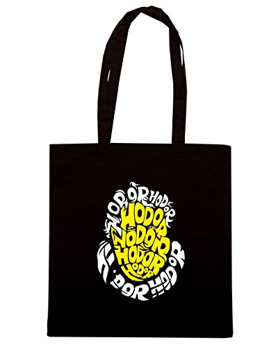 T-Shirtshock - Borsa Shopping FUN0269 11 11 2013 Hodor Head T SHIRT det Nero