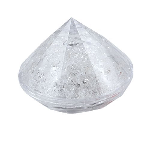 Faceted Cone - DealMux Faceted Cone Shape Night Light Lamp RGB Color Clear