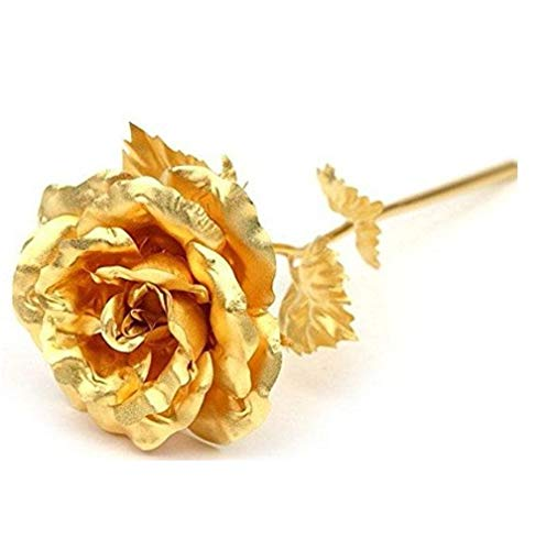 Adabele Gifts I Love You Rose Flower Golden Foil Lasts Forever Gift Box Romantic for Women Anniversary Valentine's Day Birthday Mother's Day gcr2A