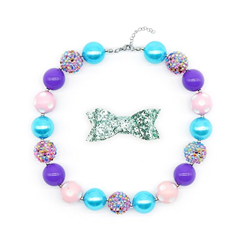 - BUENAVO Chunky Bubblegum Necklace Little Princess Fashion Beads for Baby Girl with Gift Box