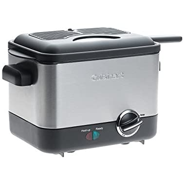 Cuisinart CDF-100 Compact 1.1-Liter Deep Fryer, Brushed Stainless Steel