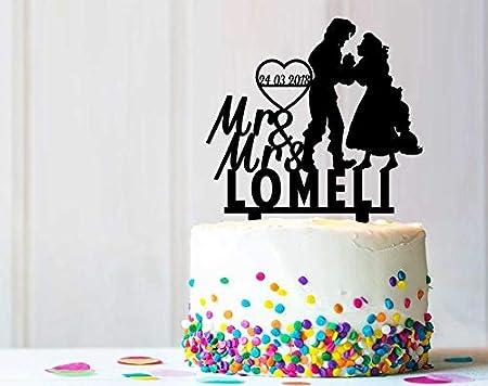 Decoración rústica para tarta con diseño personalizado ...