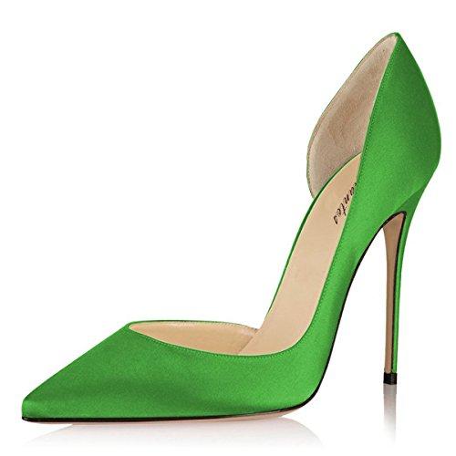 Delle Aperto Pompe Amarantos Dello Sexy Stiletto Lato D'orsay Tallone Punta Donne Verde Della Alto Appuntita xYqwqdOa