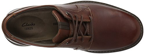 Clarks Mens Cushox Pace Oxford Pelle Marrone Scuro