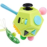 Fidget Cube 12 Sides Cube Attention Toy, Relieves Stress and Anxiety, Relax For Children And Adults with ADHD ADD OCD Autism(Comes with peas)