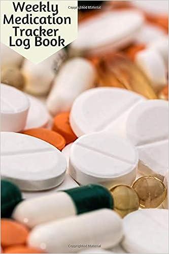 weekly medication tracker log book personal medicine administration