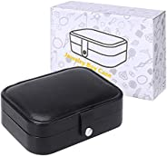 Jewelry Box Case, Small Travel PU Leather Jewellery Storage Organizer for Rings Earrings Necklace Bracelets Je