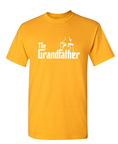 The Grandfather Gift for Dad Fathers Day Mens Novelty T Shirt 4XL Gold ()