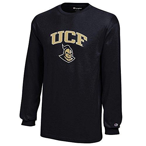 (Elite Fan Shop UCF Knight Kids Long Sleeve Tshirt Arch Black - S)