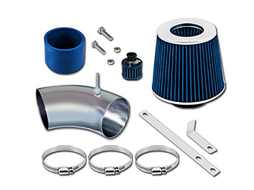 (Volkswagen 93 94 95 96 97 98 Golf (GL GTI Jazz K2 Limited Trek), Jetta (GL GLS GT K2) Short Ram Intake Sr-vw6 with Blue Filter1)