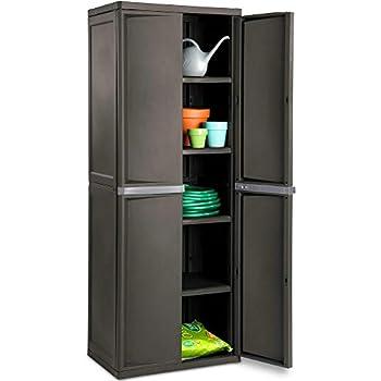 Amazon.com : BS Lockable Storage Cabinet Outdoor 4 Shelf ...