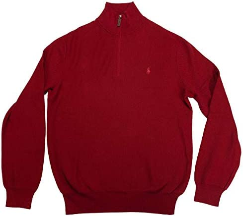 Polo Ralph Lauren Men`s Quarter Zip Textured Pullover Mock Neck Sweater