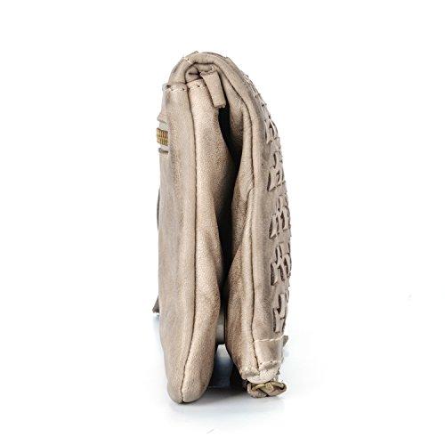 para vintage mujer y Bag grande en Valle del hombro correa in Ira bandolera piel bolso tejida el bolso Chicago Italy de para cammelo modelo confeccionado con Made auténtica mujer AnwInqvg