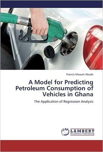 Amazon com: A Model for Predicting Petroleum Consumption of