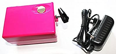 Ebest Salon Airbrush makeup Nail art compressor with hose air pressure adjustable