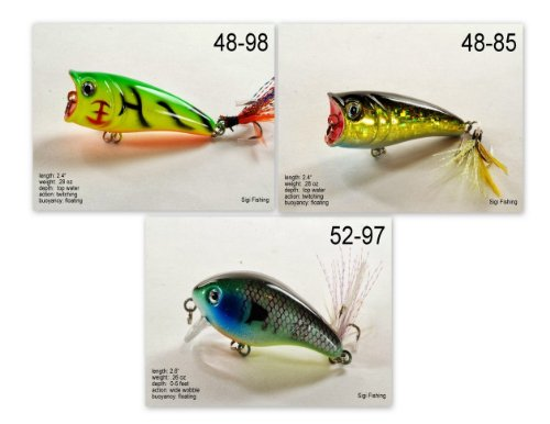Akuna [VA] Pros' pick recommendation collection of lures for Bass, Panfish, Trout, Pike and Walleye fishing in Virginia(Bass 3-A)