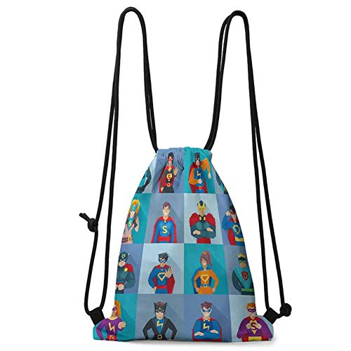 Comic Strip Girl Costumes Makeup - Travel Drawstring bag Superhero,Characters with Supernatural