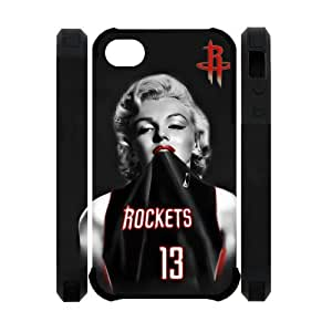 Marilyn Monroe Superstar James Harden iPhone 4 4S New Style Houston Rockets Case Cover