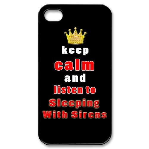 Fayruz- Sleeping With Sirens Protective Hard TPU Rubber Cover Case for iPhone 4 / 4S Phone Cases A-i4K204
