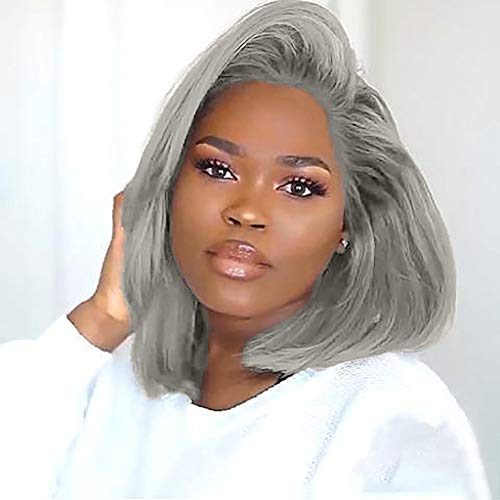 with Baby Hair Human Hair Full End Short Bob Wigs for Black Women -