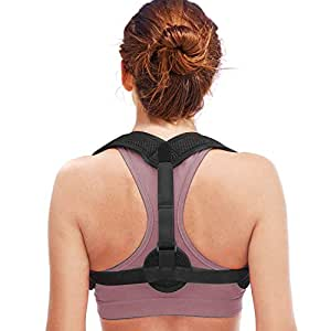 Back Posture Corrector for Women Men, Cenawin Comfortable Posture Brace Effective Corrective Shoulder Adjusts Worn Under Clothes for Relieving Pain and Preventing Slouching Hunching Slumping Shoulders