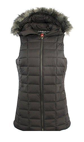 Columbia Women's Backcountry Blizzard Omni Heat Hooded Puffer Vest (Mineshaft, S)