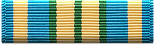 Slide-on Ribbon with Mounting bar: MILITARY OUTSTANDING VOLUNTEER SERVICE