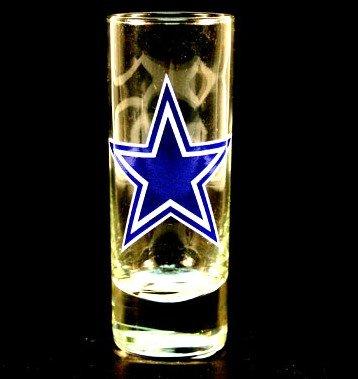 (NFL Licensed Cordial Logo Hype Glass Shot Glass (2 Oz.) (Dallas)