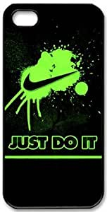 Green nike splash Just Do It For SamSung Galaxy S4 Mini Phone Case Cover Hot Design Hard Shell Black Skin Protector Cover of Kingcase