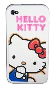 Hello Kitty iPhone 4 Silicone Case White