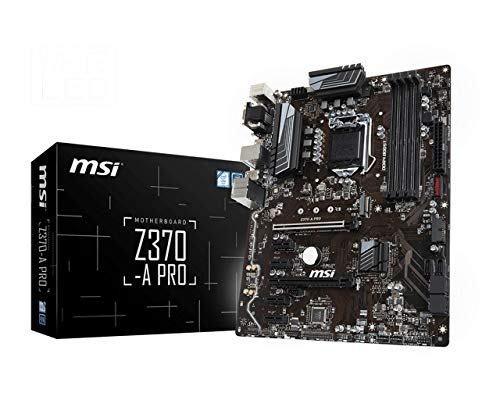 MSI PRO Series Intel 8th Gen LGA 1151 M.2 D-Sub DVI DP USB 3.0 Gigabit LAN CFX ATX Motherboard (Z370-A PRO) (Renewed)