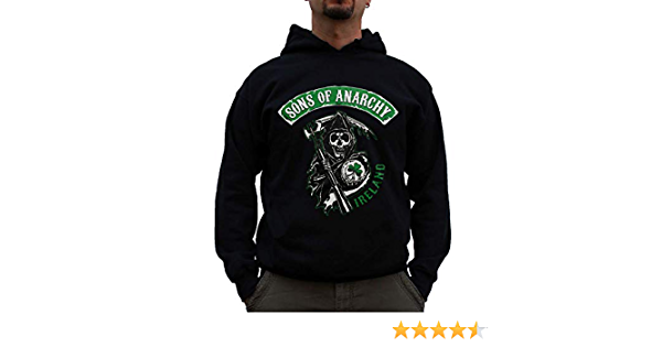 TAURUS CLOTHING SONS OF ANARCHY Ron Pearlman Charlie Hunnam HOODIE Black s med large XL XXL XXXL XXXXL
