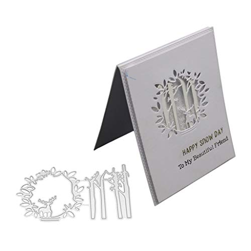 Tingze416 Metal Cutting Dies (Trunk), for Making Cards, Greeting Cards Christmas Embossing Stencils Stencil Template and Kids DIY Scrapbook Album Decoration