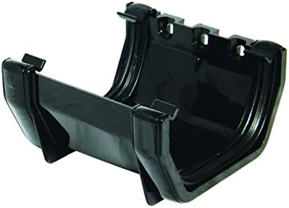 RUS1B 114mm Square Union Gutter Bracket Black