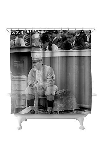 - Lantern Press Roger Bresnahan, St. Louis Cardinals, Baseball Photo #1 5332 (74x74 Polyester Shower Curtain)